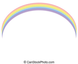 Vector - Rainbow over white - Colorful rainbow over white...