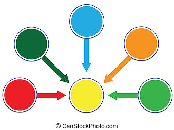 Profit and Wealth Distribution Circle Illustration in Vector