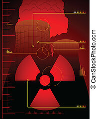 Radiation leak background - Background of cooling towers and...