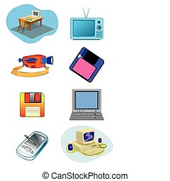 Electrical Equipment Illustration in Vector - Electrical and...