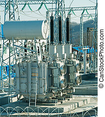 Power Plant Transformer - a hight voltage powerplant...