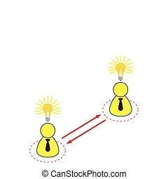 Employee Sharing Ideas Illustration in Vector