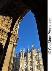 Cathedral of Milan - The Duomo, gothic cathedral of Milan,...