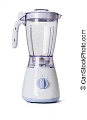 Electric blender - Empty electric blender on white...