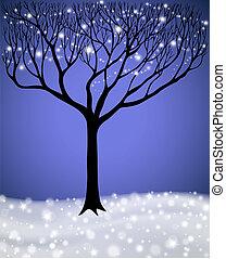inverno, albero