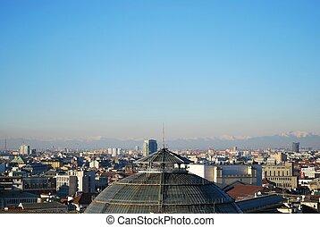 Panoramic view of Milan