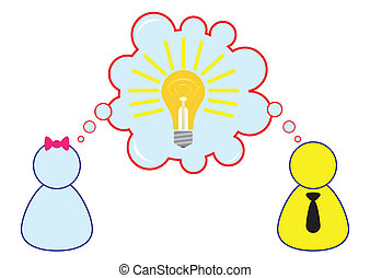 Employee Sharing Ideas While Brainstorming Illustration in Vector