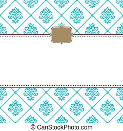 Vector Small Frame and Ornate Pattern