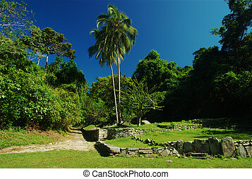 Ruins of the Tayrona in Colombia - Pueblito: Ruins of an...