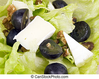 Closeup picture of tasty salad