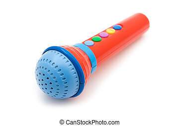 toy microphone close up