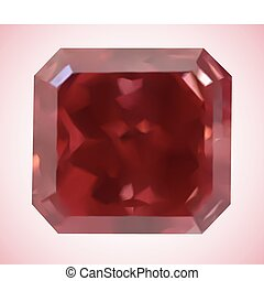 Beautiful Red Gem. Vector