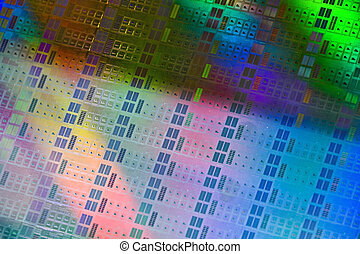 computer wafer - Close up of a silicon wafer