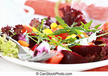 Vegetable salad with beetroot - healthy eating