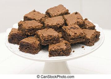 chocolate brownie  - lots of chocolate brownie