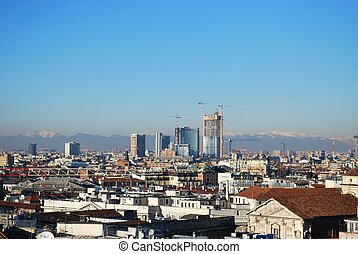 Panoramic view of Milan - Landscape panoramic view of Milan...