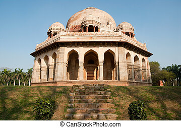Delhi India - A Mughal tomb at the beautiful Lodi Gardens in...
