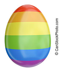 Colorful Easter egg - Easter egg with the Gay Pride rainbow...