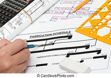Fabrication schedule - concept for project start and...