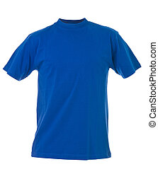 Blue t-shirt - Blue T-shirt isolated on white background