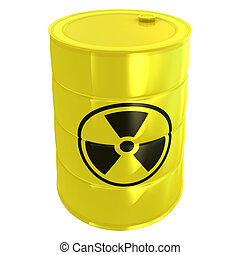 radioactive tank isolated on white