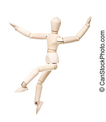 Dancing Drawing Doll - Dancing Drawing doll isolated on...