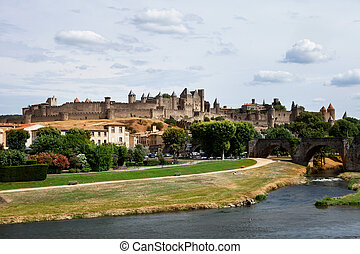 castle of Carcassonne - south of France - historical castle...