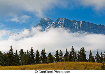 Canadian Rockies - Majestic snowcapped mountains in the...