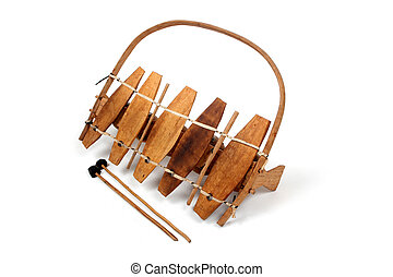Traditional african xylophone - Traditional African wooden...