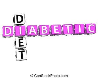 Diabetic Diet Crossword - 3D Diabetic Diet Crossword on...