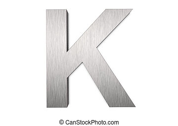 Letter K - Brushed metal letter K