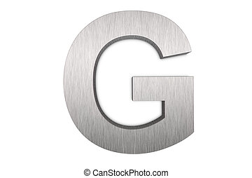 Letter G - Brushed metal letter G