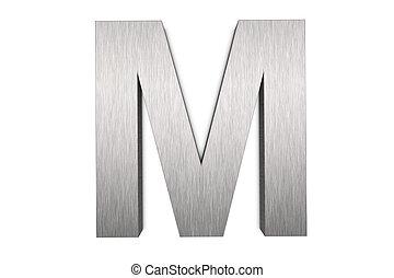 Letter M - Brushed metal letter M
