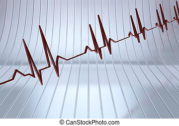 Heart beat - Medical background with a heart beat in 3D