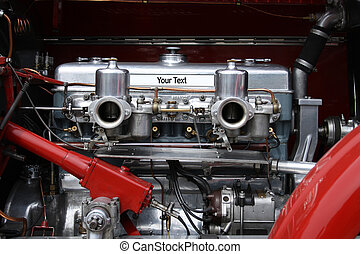 Oldtimer car engine