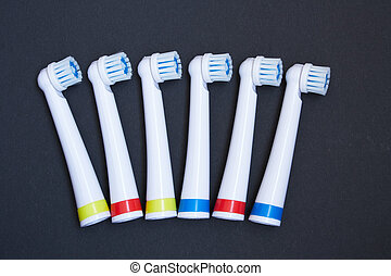 Toothbrush isolated on black background