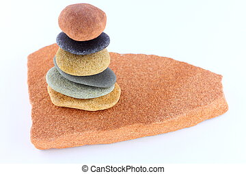 Pebble stack - Sea pebbles balanced on top of each other