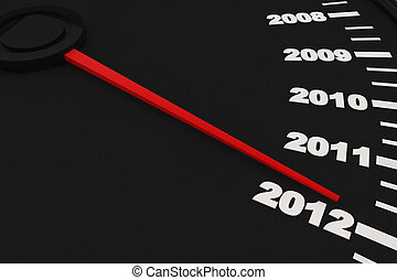 Year 2012 - Countdown to New Year 2012 - Speedometer