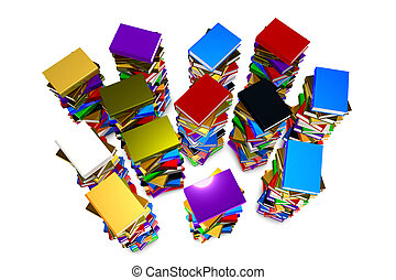 Stack books - Illustration of a stack books on white...