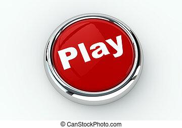 押し, プレーしなさい, ボタン