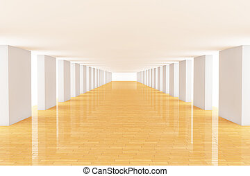 3d long room - Three dimensional rendering long room