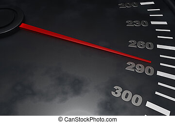3D Speedometer - Three dimensional speedometer background up...