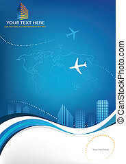 Business travel template for your print