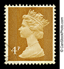 Postage Stamp - UNITED KINGDOM - CIRCA 1971 to 1996: An...