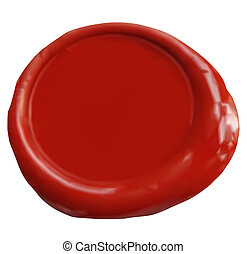 Wax Seal Vector - Wax seal with blank field