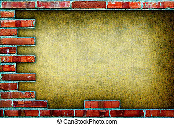 Grungy red brick frame