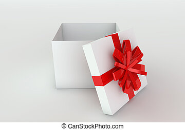 Opened giftbox - 3D rendered illustration of a opened...