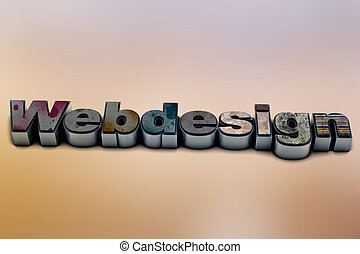 Webdesign - Illustration of a Webdesign letter