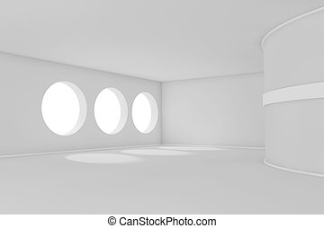 Empty room - 3d abstract empty room