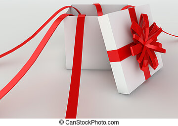 Opened giftbox in 3d - 3D rendered illustration of a opened...